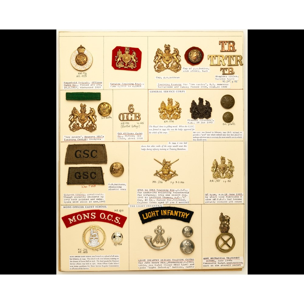 Insignia Of Army Training Organisations Olympia Auctions