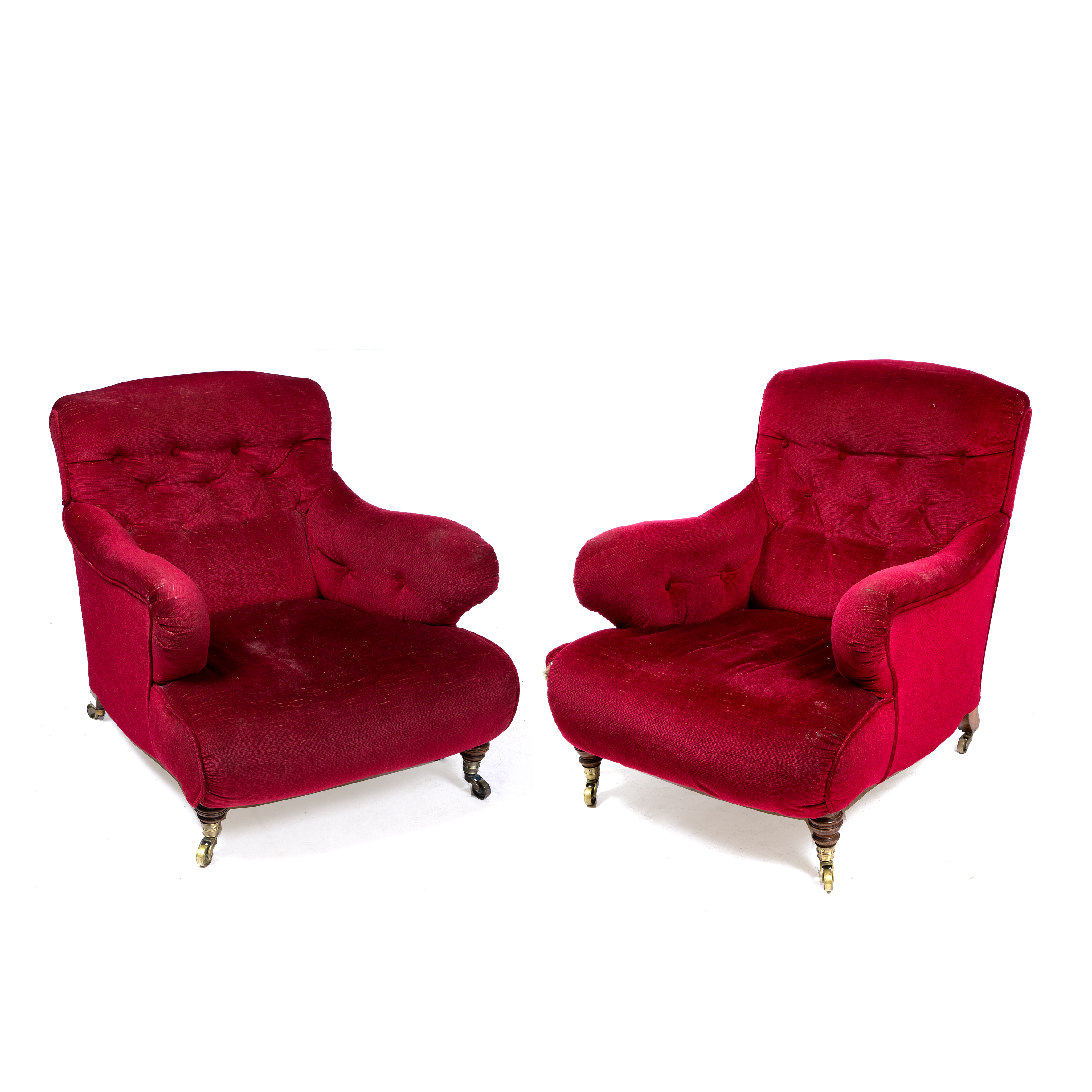 A PAIR OF HOWARD ARMCHAIRS Image